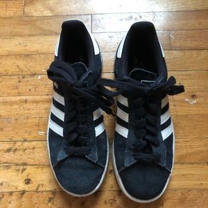 Adidas campus shoes black and white